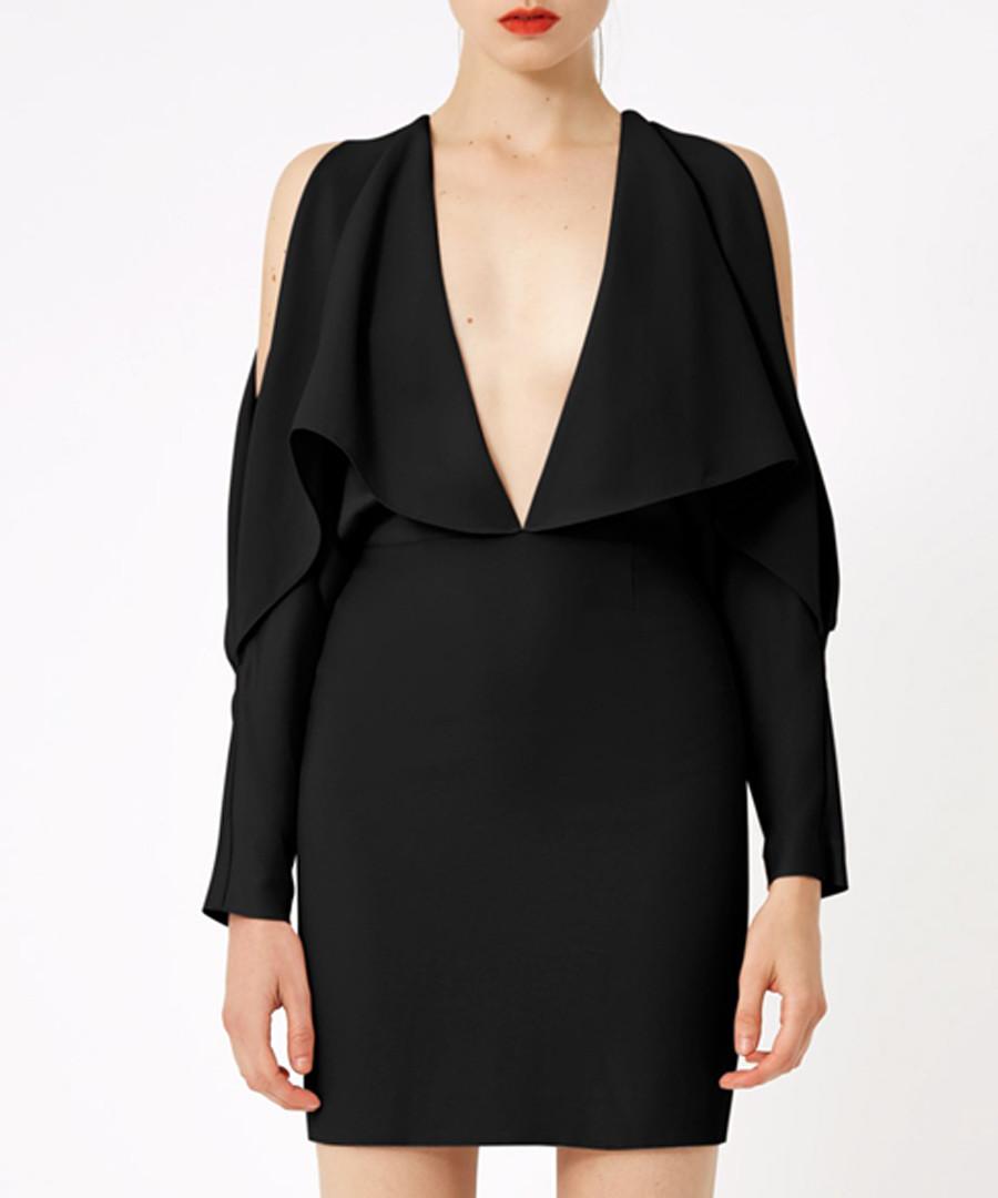 Larissa black plunge mini dress Sale - aq/aq