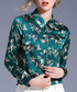 green floral collared blouse Sale - Kaimilan Sale