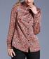 caramel leopard print blouse Sale - Kaimilan Sale