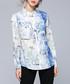 white & blue fade button blouse Sale - Kaimilan Sale