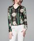 green & red brocade stripe blouse Sale - Kaimilan Sale