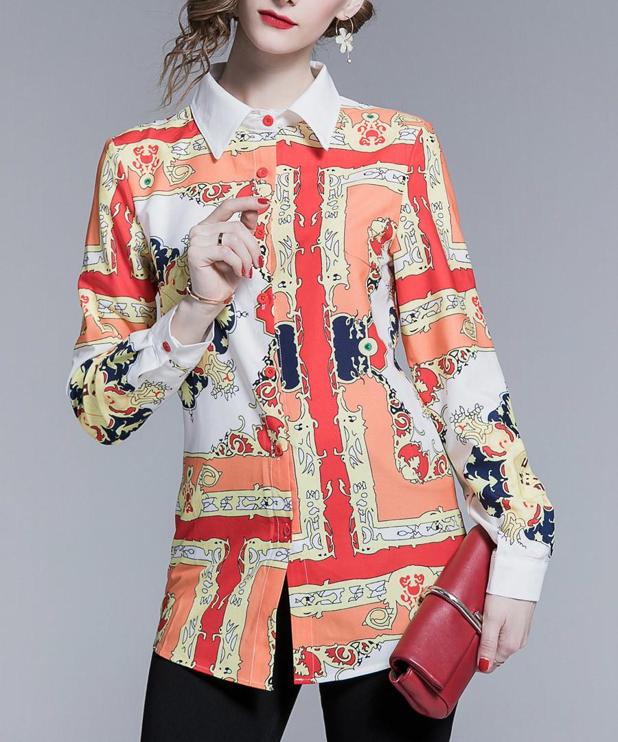 coral & peach labyrinth blouse Sale - Kaimilan