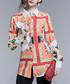coral & peach labyrinth blouse Sale - Kaimilan Sale