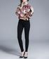 coral & black frames blouse Sale - Kaimilan Sale