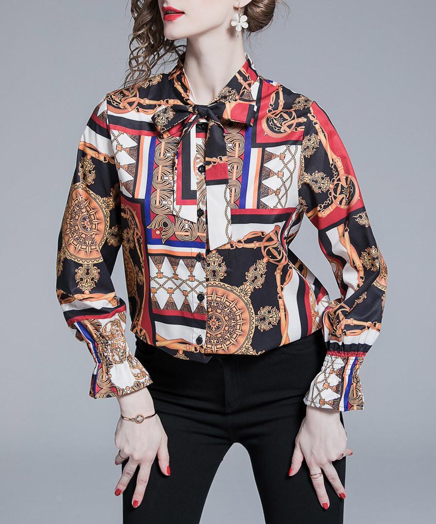 coral & black frames blouse Sale - Kaimilan