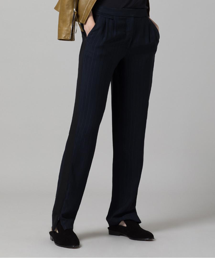 Midnight pinstripe slim trousers Sale - Amanda Wakeley