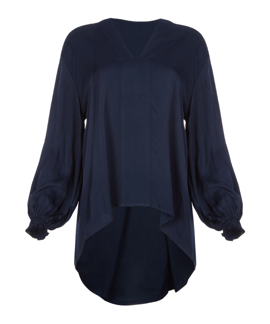Midnight satin long sleeve top Sale - amanda wakeley
