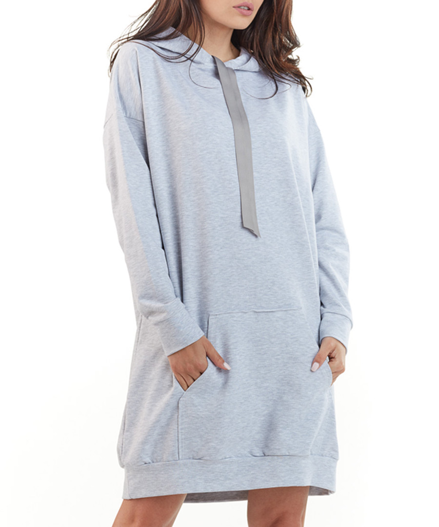 ash cotton blend hoodie dress Sale - awama