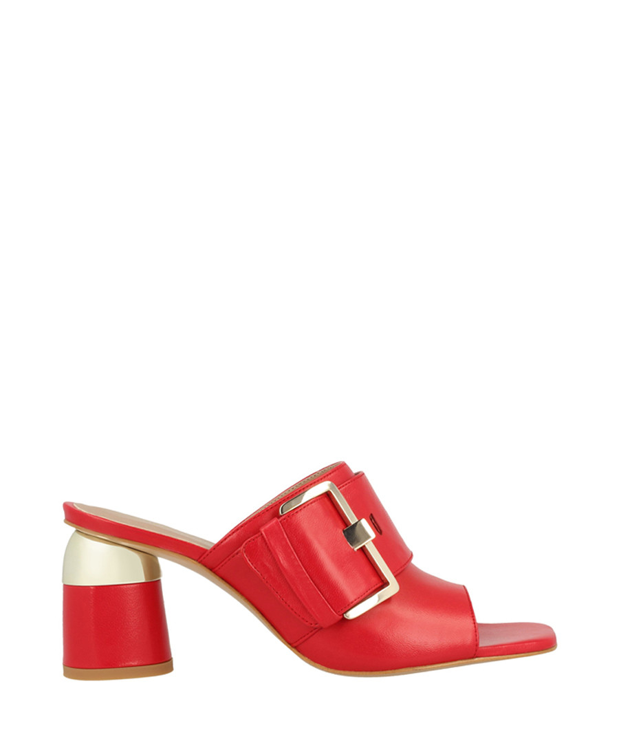 Red clog sandals Sale - roberto botella