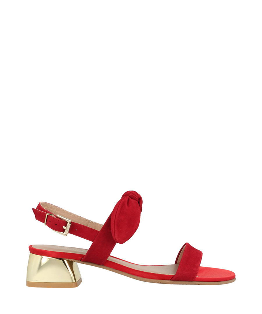 Red suede knot sandals Sale - roberto botella