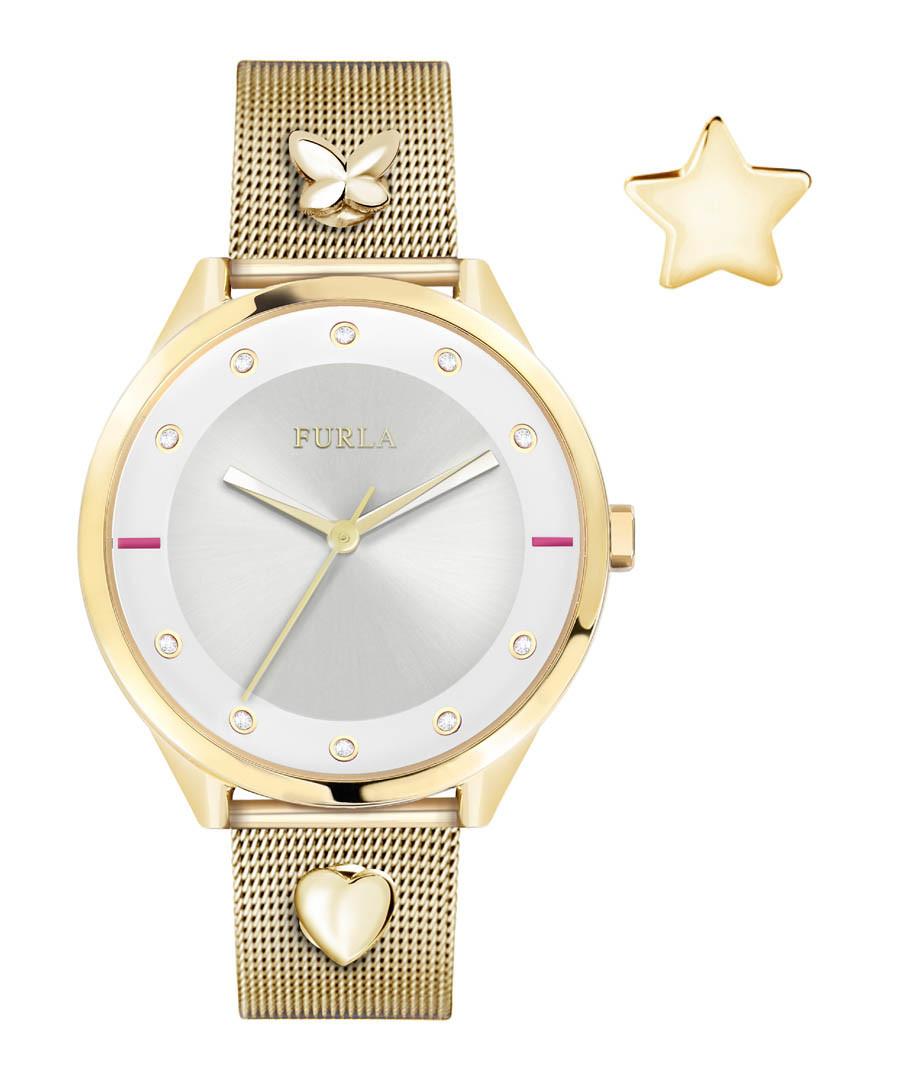 Gold-tone steel mesh watch Sale - furla