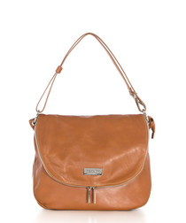 Moscato tan sauvage leather shoulder bag