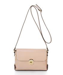 Siena dusty pink leather crossbody bag