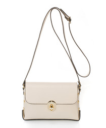 Siena beige leather crossbody bag
