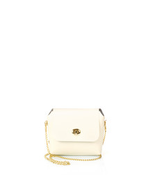 Ghemme chalk leather crossbody bag