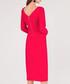 coral long sleeve midi dress Sale - closet london Sale