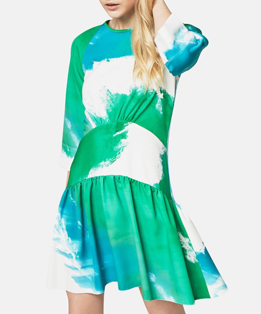 aqua cloud mini dress Sale - closet london