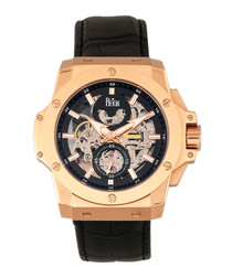 Commodus rose gold-tone & black watch