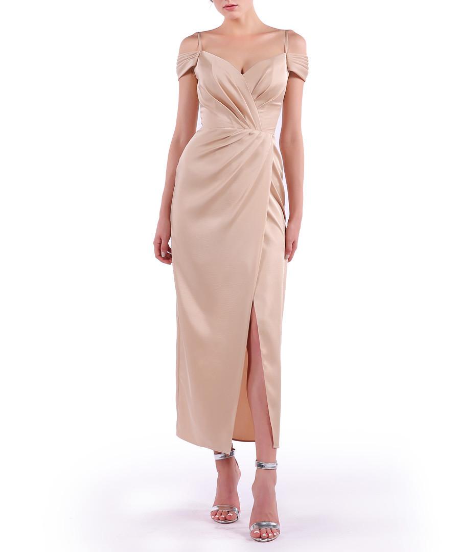 dusty pink wrap midi dress Sale - Isabel Garcia