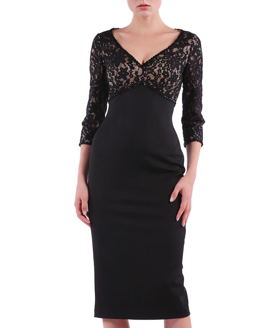 black lace detail V-neck dress Sale - Isabel Garcia