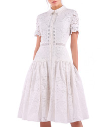 white lace collar dress