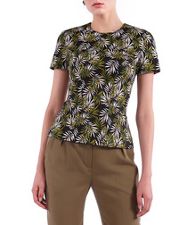black & green leaf cotton shirt