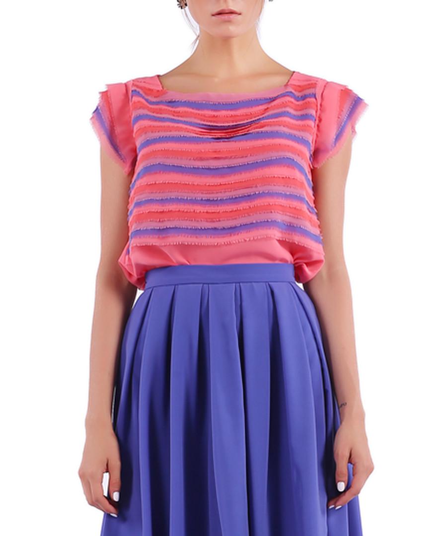 salmon & violet stripe blouse Sale - Isabel Garcia