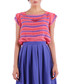 salmon & violet stripe blouse Sale - Isabel Garcia Sale