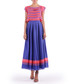 violet & pink pleated maxi skirt Sale - Isabel Garcia Sale