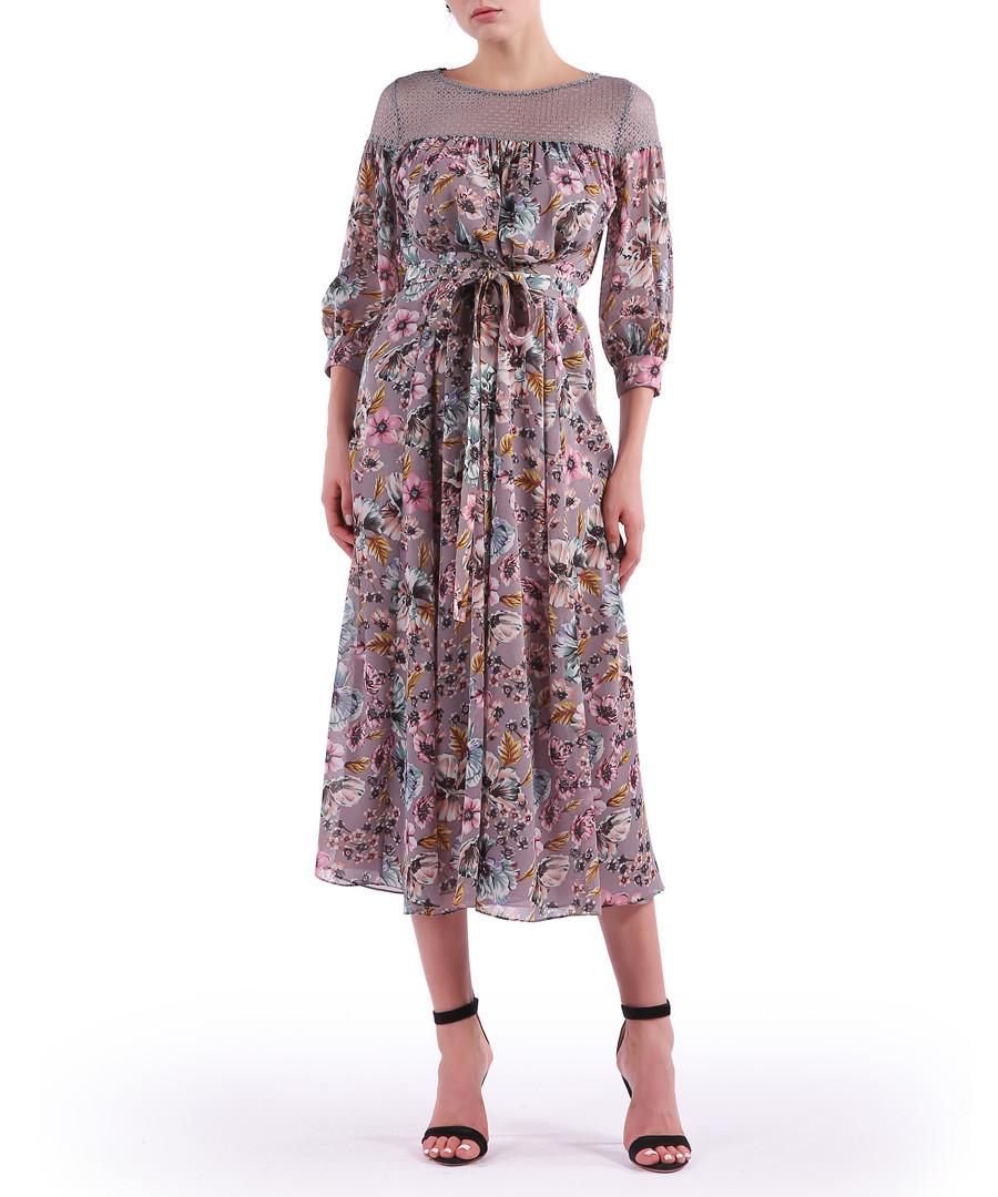 mauve floral midi dress Sale - Isabel Garcia