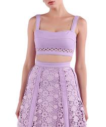 lavender cotton blend crop top