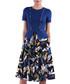 blue leaves short sleeve dress Sale - Isabel Garcia Sale