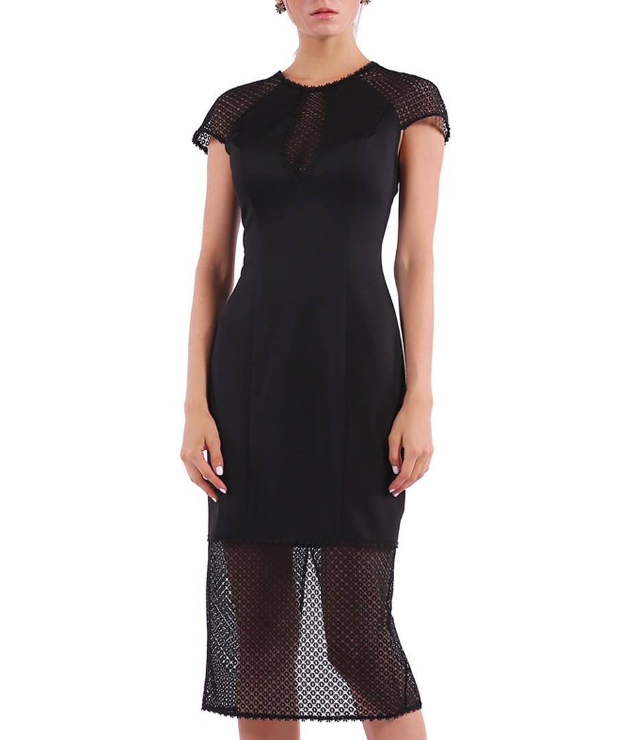 black mesh hem midi dress Sale - Isabel Garcia