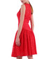 red cotton blend lace pleated dress Sale - Isabel Garcia Sale