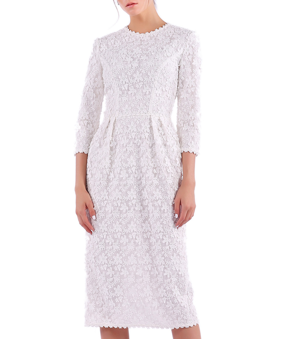 white lace scalloped dress Sale - Isabel Garcia