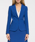 Royal blue single button blazer Sale - stylove Sale