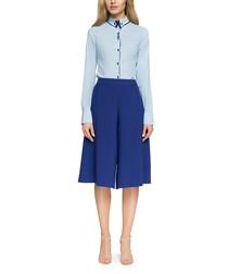 Light blue button detail blouse