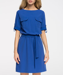 Royal blue pocket detail dress