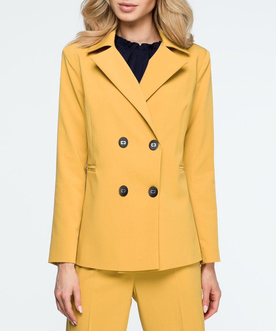 yellow double-breast blazer Sale - stylove