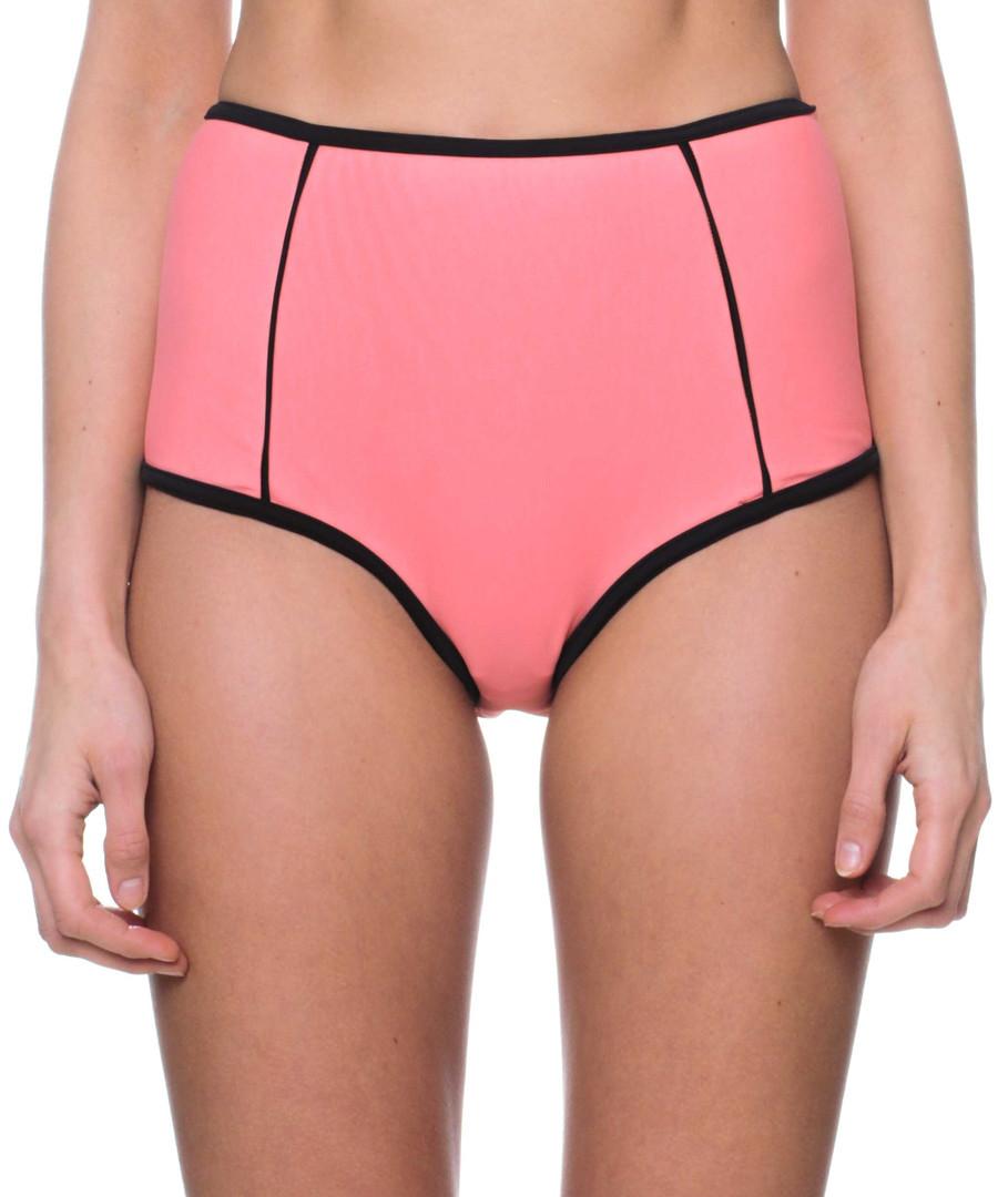 peach high waist bikini bottoms Sale - fleur farfala