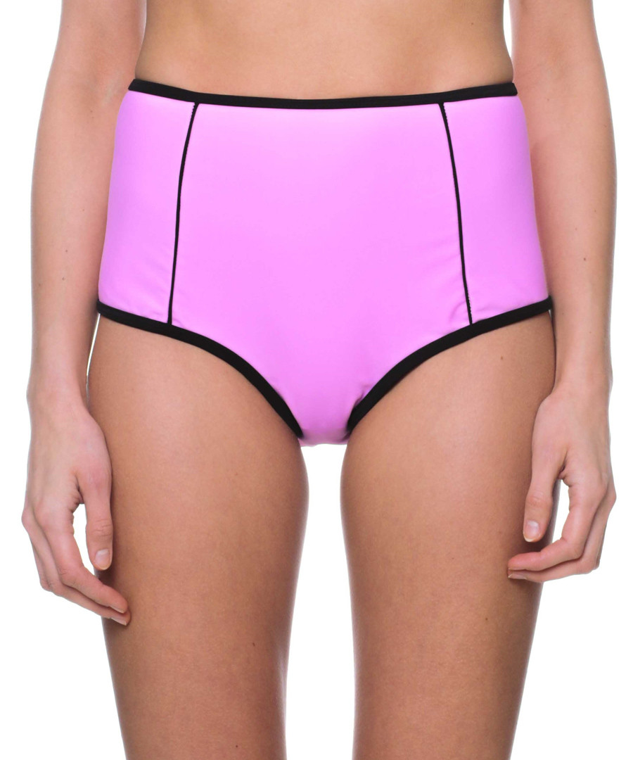lavender high waist bikini bottoms Sale - fleur farfala