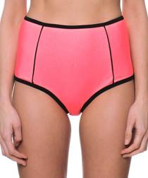 pink high waist bikini bottoms