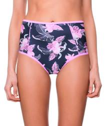 fernanda navy floral bikini briefs