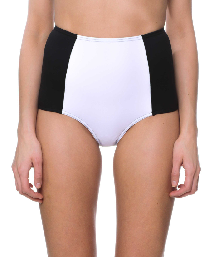 luisa white high-waist bikini briefs Sale - fleur farfala