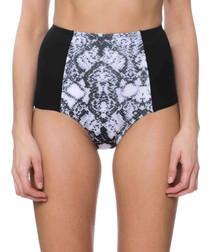 luisa snake high-waist bikini briefs