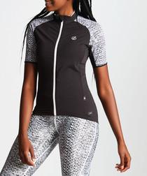 cycle black & ash full-zip top