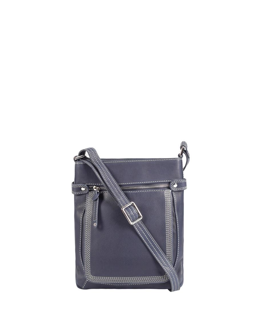 blue leather crossbody bag  Sale - Lloyd Baker