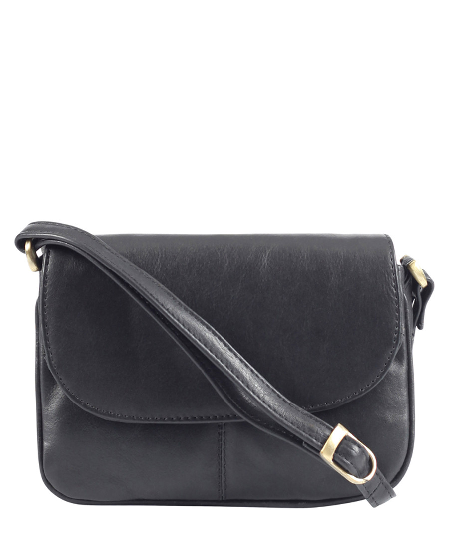 black leather fold crossbody bag  Sale - Lloyd Baker