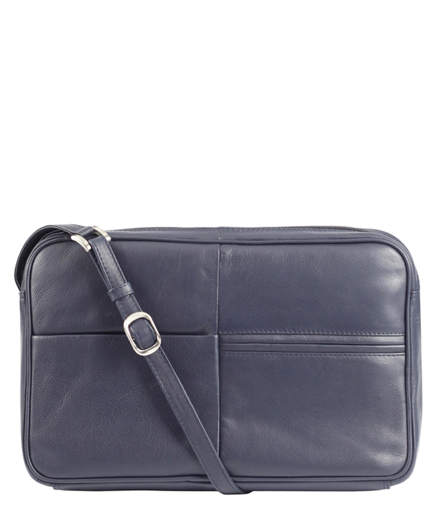 navy leather crossbody bag  Sale - Lloyd Baker