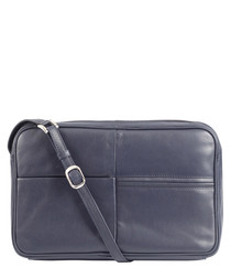 navy leather crossbody bag